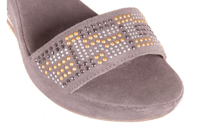 Sandały bayla-131 2701 grigio, szary, skóra naturalna  - koturny - dla niej  - sale 5