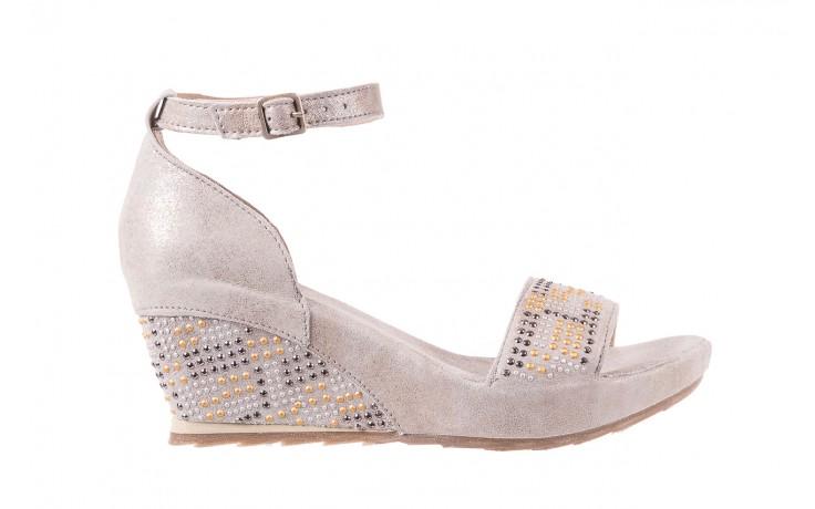 Sandały bayla-131 2701 platino, szary, skóra naturalna  - sandały - dla niej - dodatkowe -10%