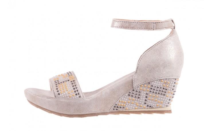 Sandały bayla-131 2701 platino, szary, skóra naturalna  - sandały - dla niej - dodatkowe -10% 2