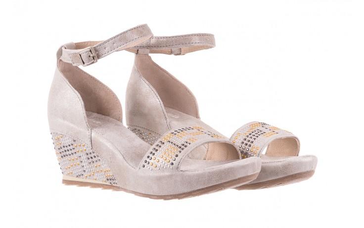 Sandały bayla-131 2701 platino, szary, skóra naturalna  - sandały - dla niej - dodatkowe -10% 1