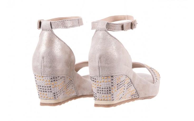 Sandały bayla-131 2701 platino, szary, skóra naturalna  - sandały - dla niej - dodatkowe -10% 3