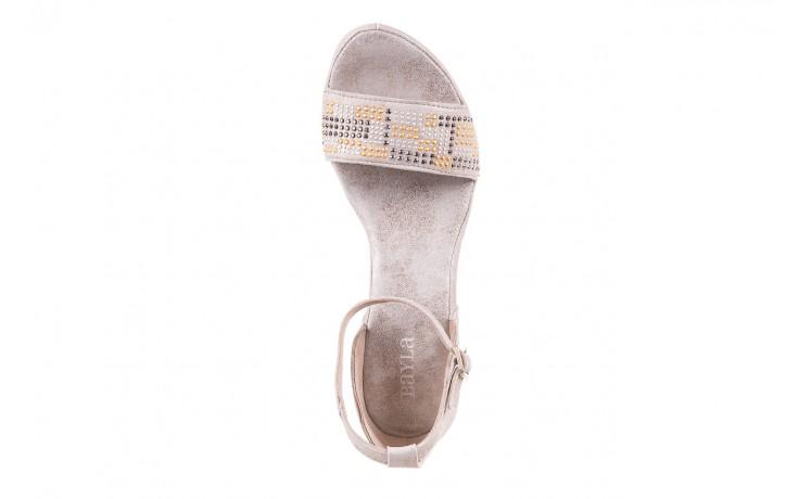 Sandały bayla-131 2701 platino, szary, skóra naturalna  - sandały - dla niej - dodatkowe -10% 4