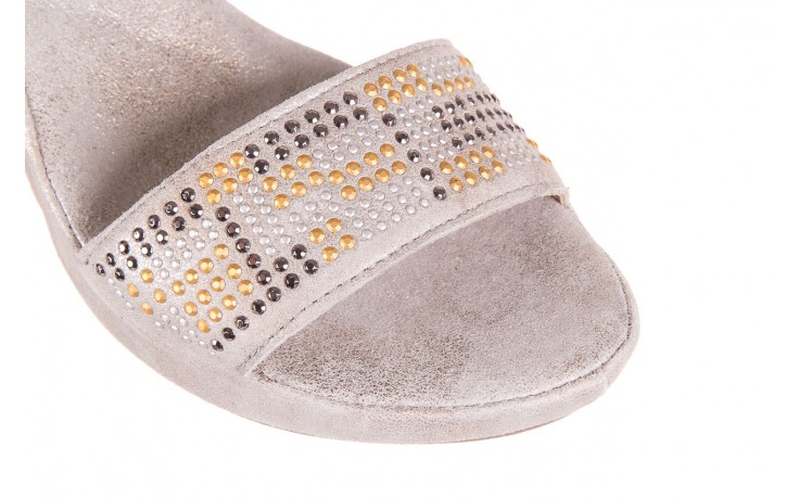 Sandały bayla-131 2701 platino, szary, skóra naturalna  - sandały - dla niej - dodatkowe -10% 5