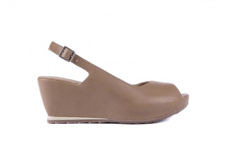 Sandały bayla-131 2705 dune , beż, skóra naturalna - na platformie - sandały - buty damskie - kobieta