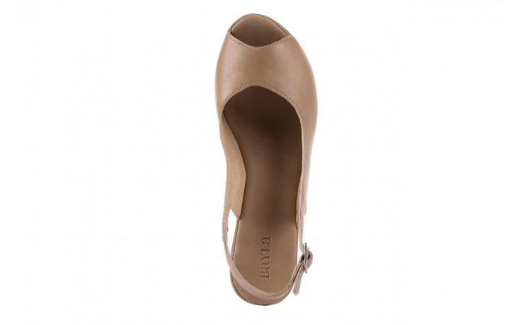 Sandały bayla-131 2705 dune , beż, skóra naturalna - na platformie - sandały - buty damskie - kobieta 4