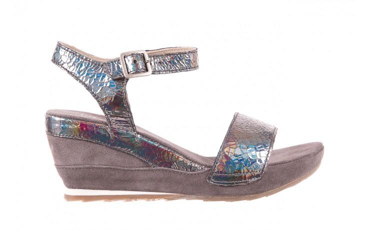 Sandały bayla-131 2711 fucile, szary, skóra naturalna  - sandały - dla niej - dodatkowe -10%