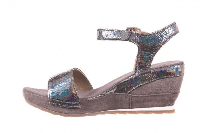 Sandały bayla-131 2711 fucile, szary, skóra naturalna  - sandały - dla niej - dodatkowe -10% 2