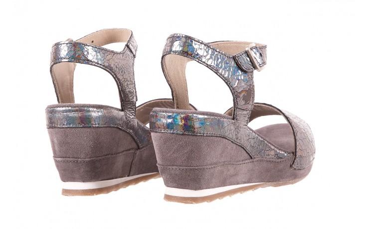 Sandały bayla-131 2711 fucile, szary, skóra naturalna  - sandały - dla niej - dodatkowe -10% 3