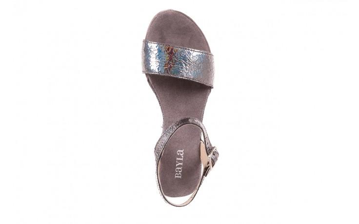 Sandały bayla-131 2711 fucile, szary, skóra naturalna  - sandały - dla niej - dodatkowe -10% 4