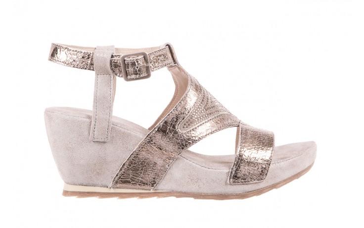 Sandały bayla-131 2714 platino, srebrny, skóra naturalna  - bayla - nasze marki
