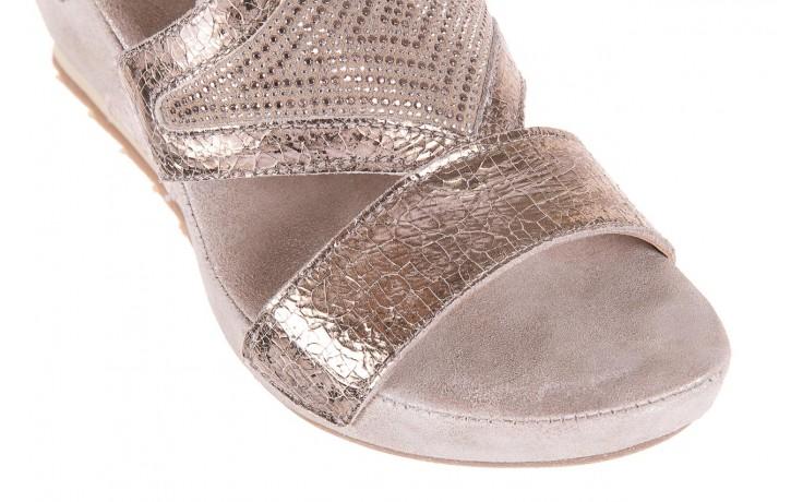 Sandały bayla-131 2714 platino, srebrny, skóra naturalna  - bayla - nasze marki 5