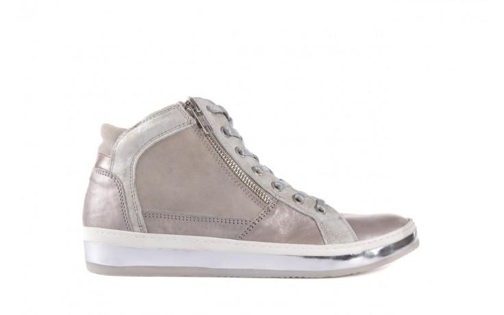 Półbuty bayla-131 4002 platino, skóra naturalna - wysokie - trampki - buty damskie - kobieta