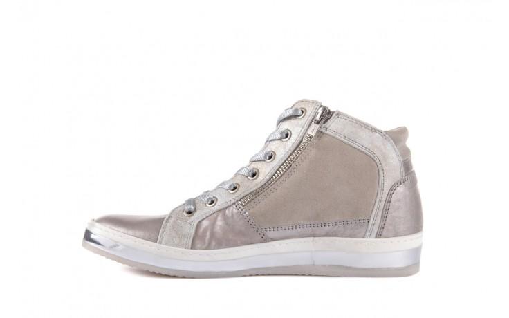 Półbuty bayla-131 4002 platino, skóra naturalna - wysokie - trampki - buty damskie - kobieta 2