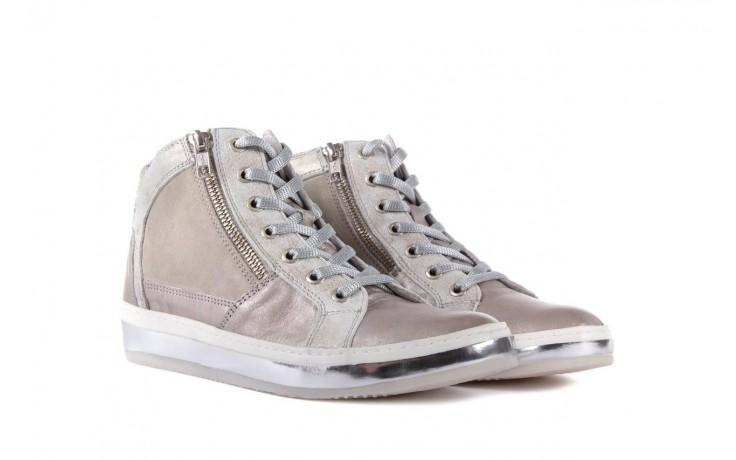 Półbuty bayla-131 4002 platino, skóra naturalna - wysokie - trampki - buty damskie - kobieta 1