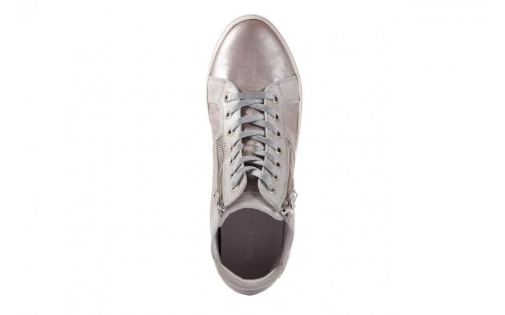 Półbuty bayla-131 4002 platino, skóra naturalna - wysokie - trampki - buty damskie - kobieta 4