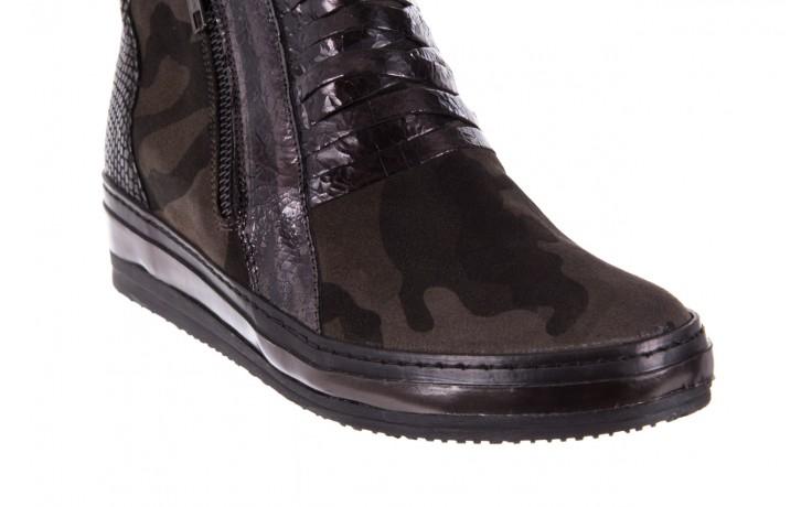 Sneakersy bayla-131 4006 grey, szary, skóra naturalna  - obuwie sportowe - dla niej - dodatkowe -10% 5