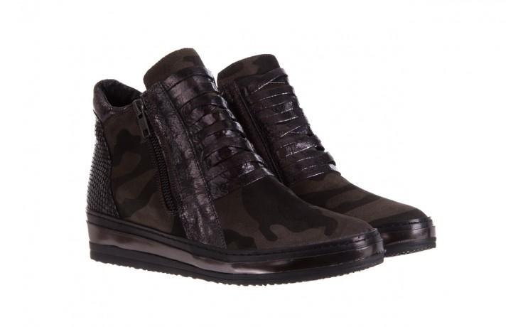 Sneakersy bayla-131 4006 grey, szary, skóra naturalna  - obuwie sportowe - dla niej - dodatkowe -10% 1