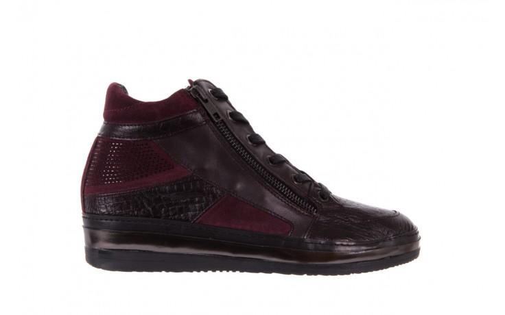 Sneakersy bayla-131 4011 bordeaux, skóra naturalna  - obuwie sportowe - dla niej - dodatkowe -10%