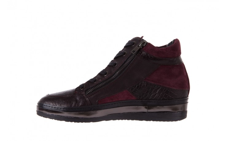 Sneakersy bayla-131 4011 bordeaux, skóra naturalna  - obuwie sportowe - dla niej - dodatkowe -10% 2