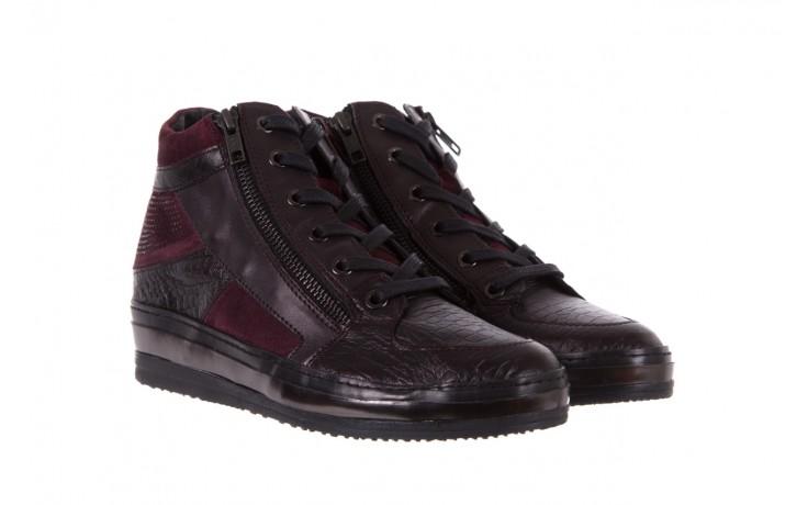 Sneakersy bayla-131 4011 bordeaux, skóra naturalna  - obuwie sportowe - dla niej - dodatkowe -10% 1