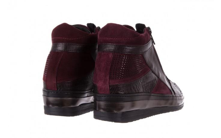 Sneakersy bayla-131 4011 bordeaux, skóra naturalna  - obuwie sportowe - dla niej - dodatkowe -10% 3