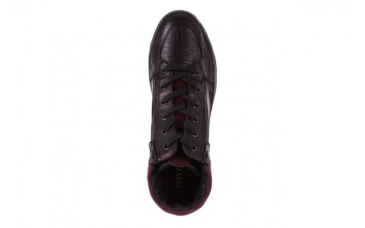 Sneakersy bayla-131 4011 bordeaux, skóra naturalna  - obuwie sportowe - dla niej - dodatkowe -10% 4