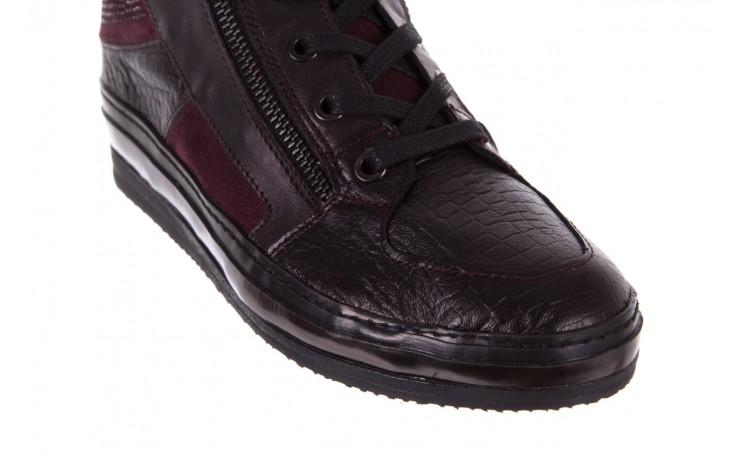 Sneakersy bayla-131 4011 bordeaux, skóra naturalna  - obuwie sportowe - dla niej - dodatkowe -10% 5