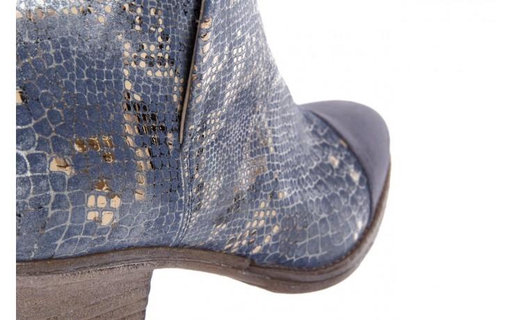 Botki bayla-131 4604 jeans, niebieski, skóra naturalna - bayla - nasze marki 5