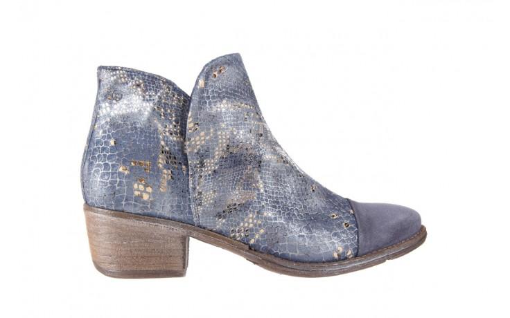 Botki bayla-131 4604 jeans, niebieski, skóra naturalna - bayla - nasze marki