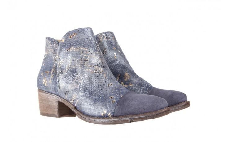 Botki bayla-131 4604 jeans, niebieski, skóra naturalna - bayla - nasze marki 1