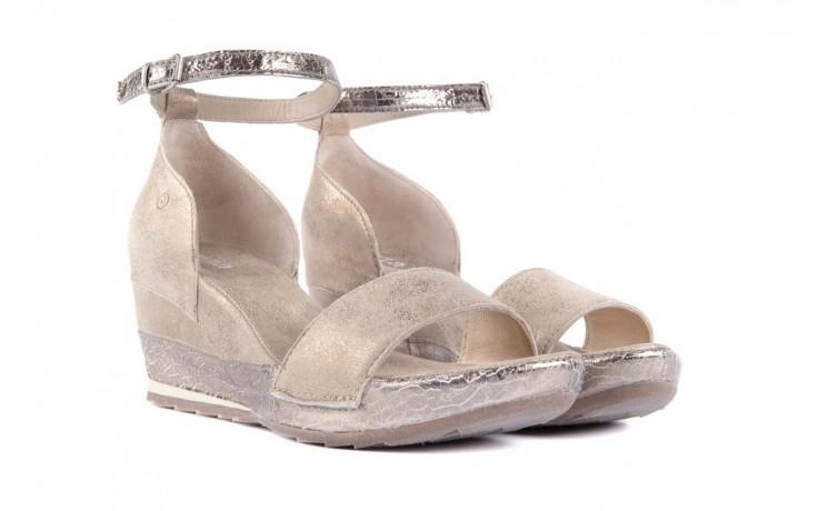 Sandały bayla-131 4813 gold , beż, skóra naturalna - bayla - nasze marki 1