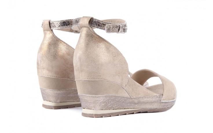 Sandały bayla-131 4813 gold , beż, skóra naturalna - bayla - nasze marki 3