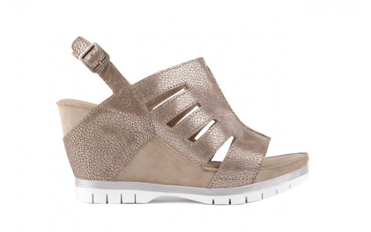 Sandały bayla-131 4905 sand, beż, skóra naturalna - na platformie - sandały - buty damskie - kobieta