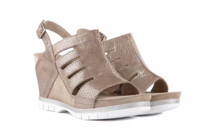 Sandały bayla-131 4905 sand, beż, skóra naturalna - na platformie - sandały - buty damskie - kobieta 1