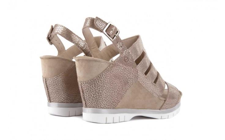 Sandały bayla-131 4905 sand, beż, skóra naturalna - na platformie - sandały - buty damskie - kobieta 3