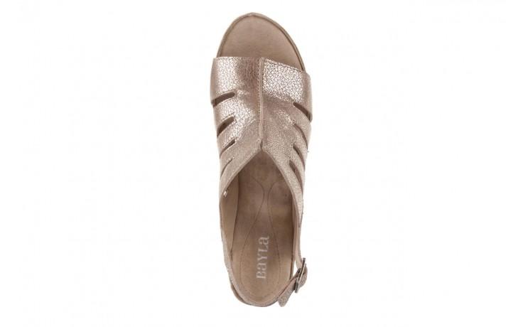 Sandały bayla-131 4905 sand, beż, skóra naturalna - na platformie - sandały - buty damskie - kobieta 4