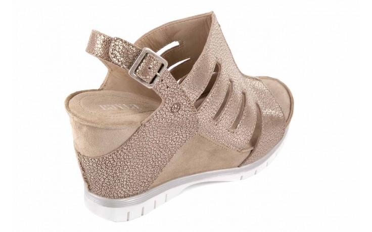 Sandały bayla-131 4905 sand, beż, skóra naturalna - na platformie - sandały - buty damskie - kobieta 5