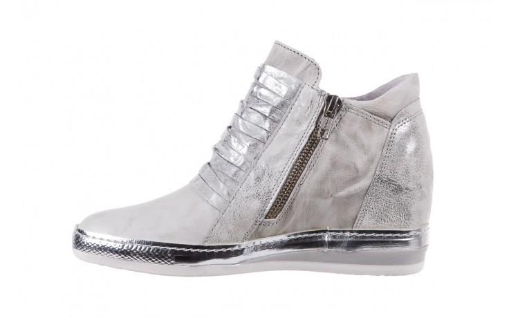 Sneakersy bayla-131 7107 zinco, srebrny, skóra naturalna  - bayla - nasze marki 2