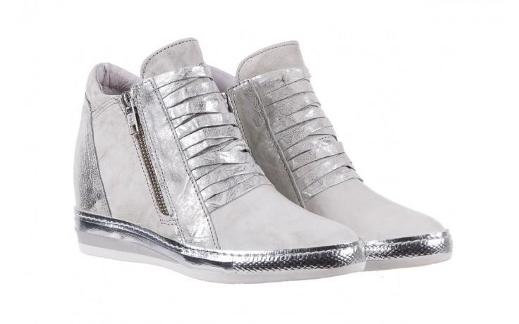 Sneakersy bayla-131 7107 zinco, srebrny, skóra naturalna  - bayla - nasze marki 1