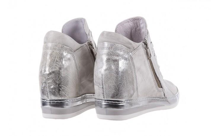 Sneakersy bayla-131 7107 zinco, srebrny, skóra naturalna  - bayla - nasze marki 3