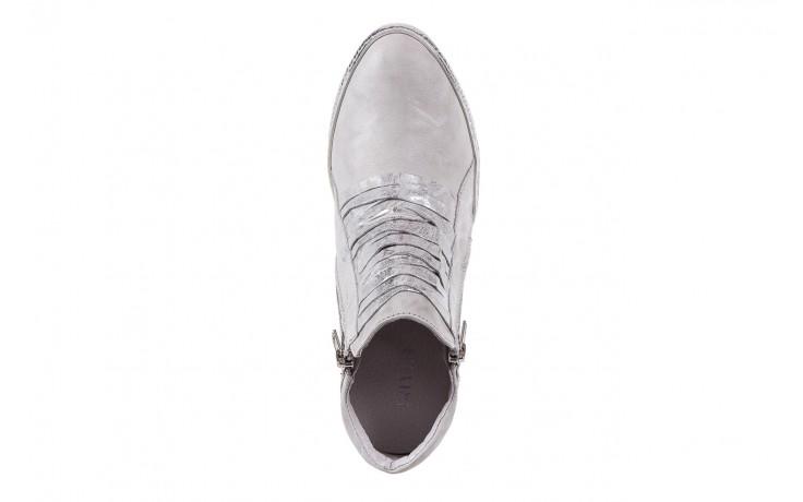 Sneakersy bayla-131 7107 zinco, srebrny, skóra naturalna  - bayla - nasze marki 4