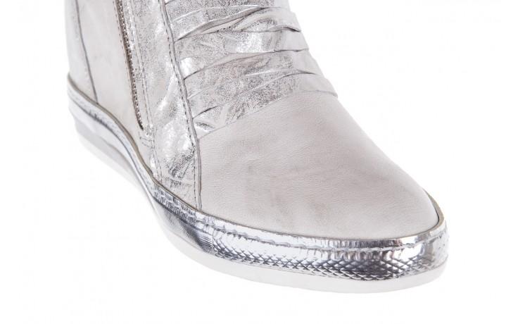 Sneakersy bayla-131 7107 zinco, srebrny, skóra naturalna  - bayla - nasze marki 5
