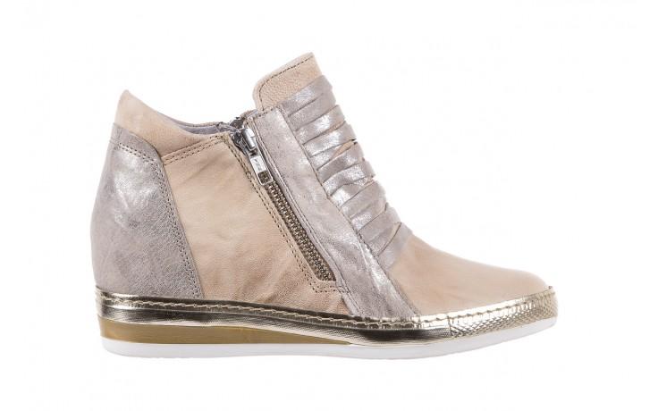 Sneakersy bayla-131 7107 deserto, beż/szary, skóra naturalna  - bayla - nasze marki