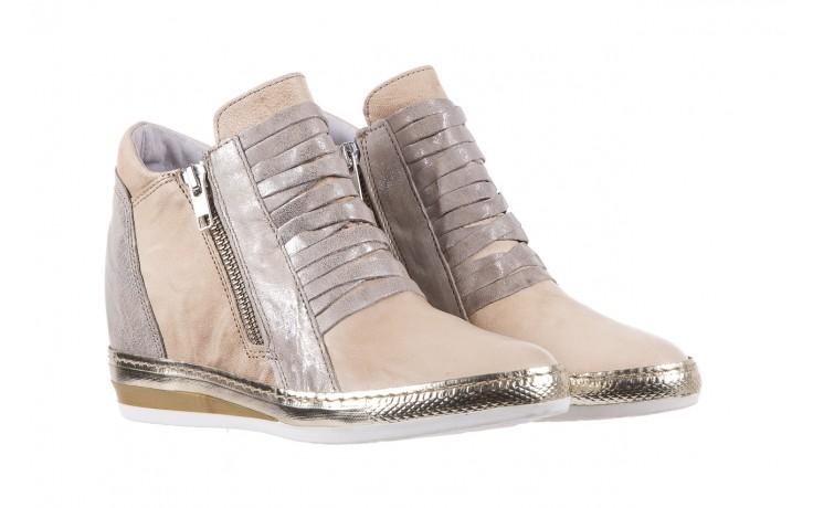 Sneakersy bayla-131 7107 deserto, beż/szary, skóra naturalna  - bayla - nasze marki 1