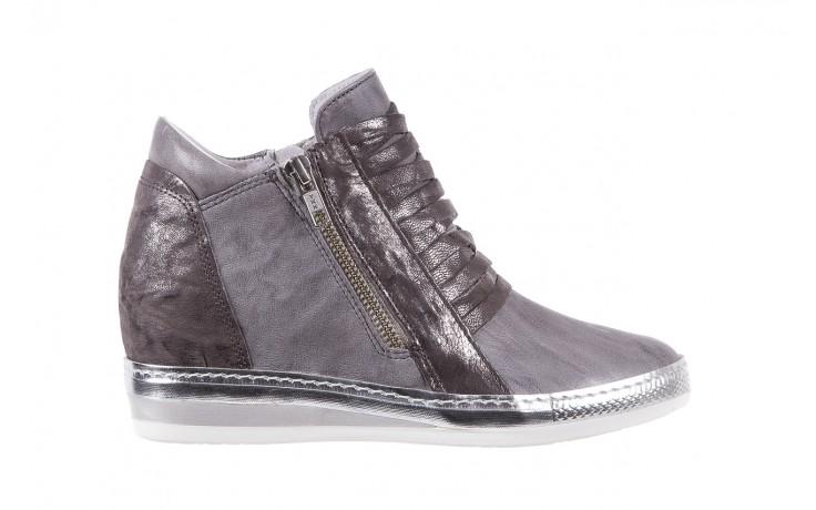 Sneakersy bayla-131 7107 grigio, szary, skóra naturalna  - bayla - nasze marki