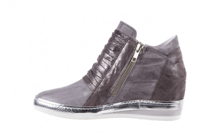 Sneakersy bayla-131 7107 grigio, szary, skóra naturalna  - bayla - nasze marki 2