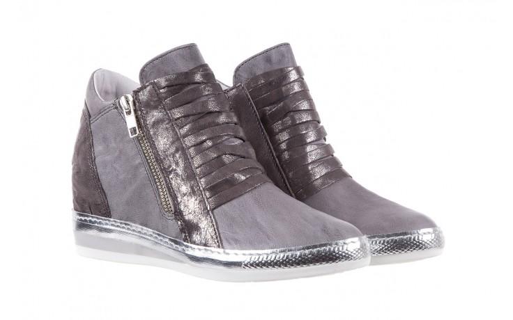 Sneakersy bayla-131 7107 grigio, szary, skóra naturalna  - bayla - nasze marki 1