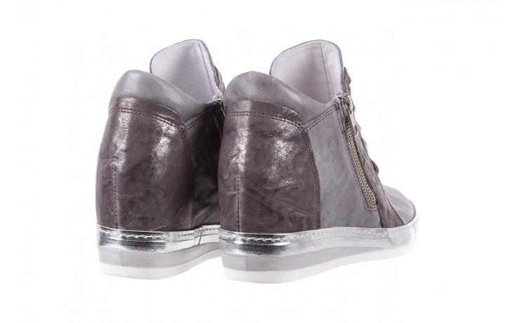Sneakersy bayla-131 7107 grigio, szary, skóra naturalna  - bayla - nasze marki 3