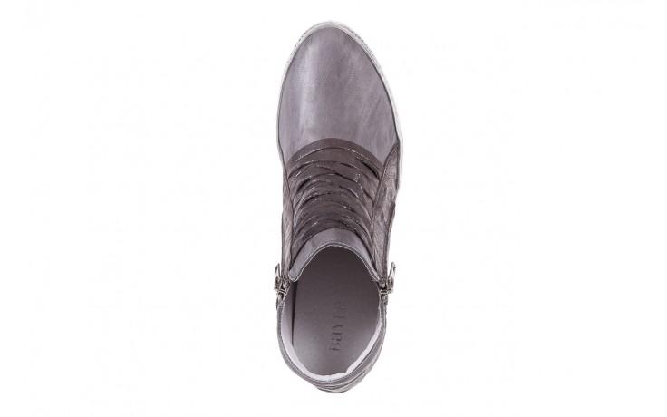 Sneakersy bayla-131 7107 grigio, szary, skóra naturalna  - bayla - nasze marki 4