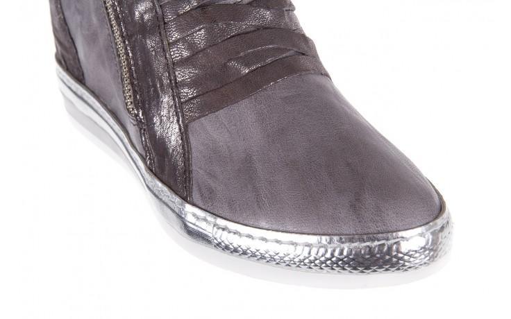 Sneakersy bayla-131 7107 grigio, szary, skóra naturalna  - bayla - nasze marki 5